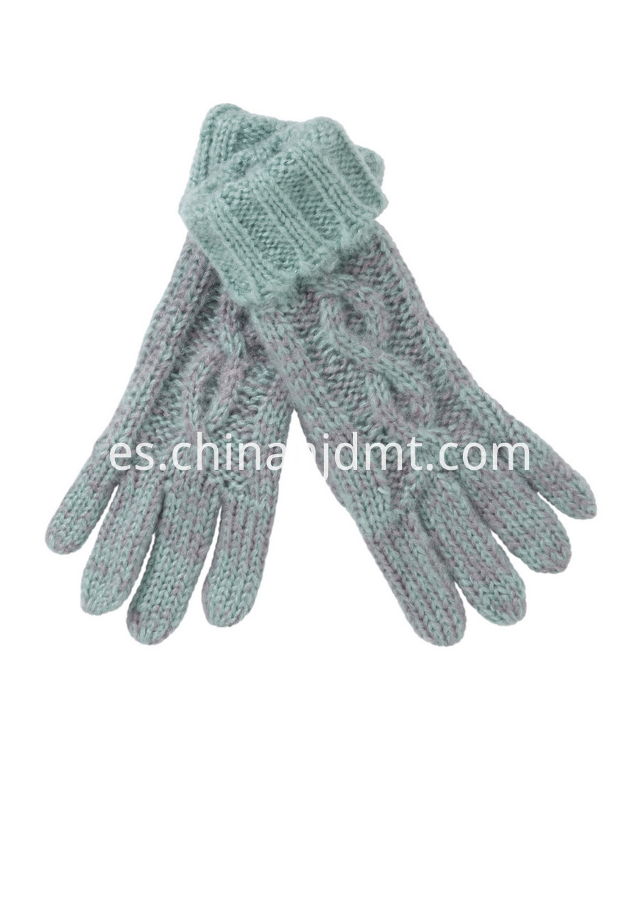 Two Tone Knitted Gloves