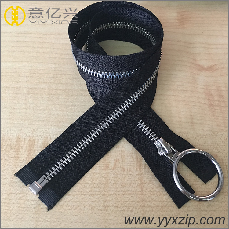 Round Puller Metal Zipper