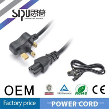 SIPU 3 pin pvc jacket laptop tailandia enchufe de cable de alimentación para sudáfrica 6.8 mm