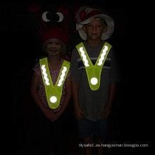 Corbatas reflectantes para niños al aire libre
