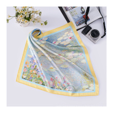 16MM Custom Brand Design Digital Printing Silk Scarf