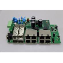 Управление л2 открытый PoE переключатель доски PCB/pcba с полной 30Вт 8 портов промышленных локальных сетей PoE переключатель