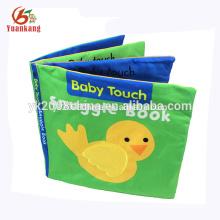 livro macio da roupa da tela do luxuoso dos desenhos animados animais para o bebê