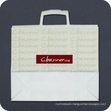 Printed Plastic Shopping Bag with Clip Handle