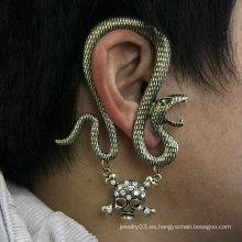 Pun ¢ o esquelético EC23 del oído de la joyería del pendiente del estilo 2013Punk