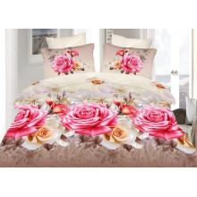 Bedclothes 3D Rose Flower Bedding Set Duvet Cover With Zipper 4PCS