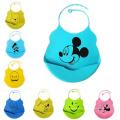 Baberos de silicona de fácil limpieza para bebés / niños / niños