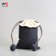 Chinese factory new design style linen pouch