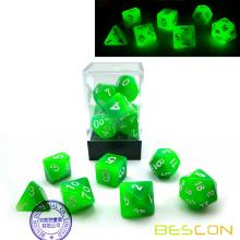 Bescon+Gradient+Glowing+Polyhedral+Dice+7pcs+Set+FOREST+LIGHT%2C+Gradual+Luminous+RPG+Dice+Set+Glow+in+Dark%2C+Novelty+DND+Game+Dice
