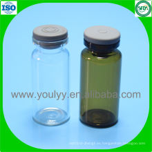 Frasco de vidrio tubular de 10 ml