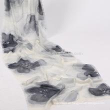 bufanda de seda de sakura pintado a mano al por mayor
