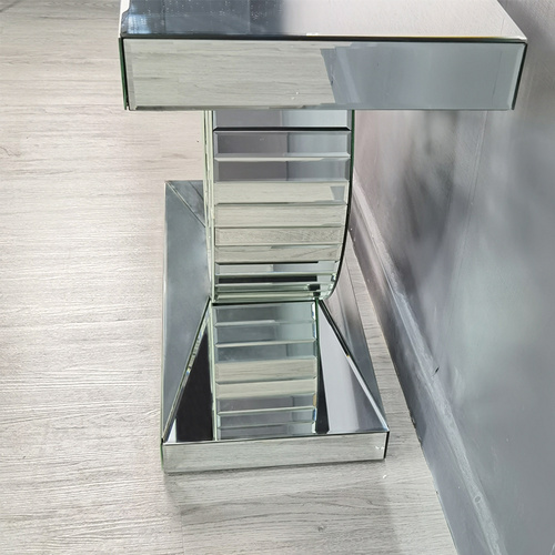 Table console miroir en cristal MDF diamant