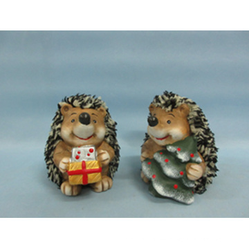 Hedgehog forma de artesanía de cerámica (LOE2529-C9)