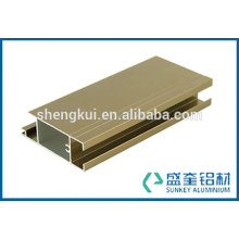 aluminum extruded profile with electrophoresis champagne for aluminium profile in Zhejiang China