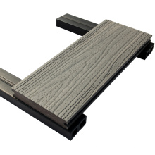 Hohe Qualität Kunststoff Co extrudiert verfügbar Wpc Terrassendielen mit Schleifoberfläche
