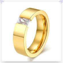Joyería de acero inoxidable accesorios de moda anillo de cristal (SR137)