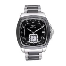 Logotipo feito sob encomenda da fábrica todo o relógio de aço inoxidável do homem da forma