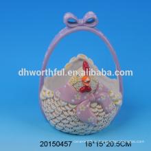 Декоративные керамические пасхальные корзины с дизайном курицы