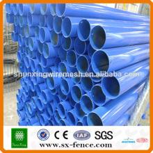 poteaux de clôture galvanisés et enduits de PVC