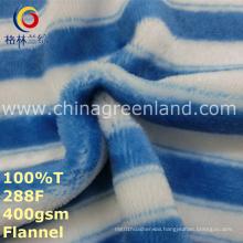 Stripe Printed 100%Polyester Fabric for Pajamas Garment Textile (GLLML247)