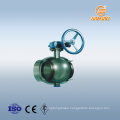 guarantee 10 years quality DN1200 welded ball valve worm gear ball valve trunnion type