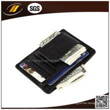 Tarjetero de cuero personalizado para pasaporte de cuero para hombre