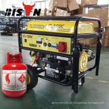 BISON China Zhejiang 5KW 100% Kupfer AC Einphasige Methan Gas Powered Generator Set