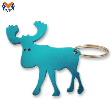 Metal shape custom animal bottle opener keyring