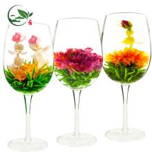 Bolas de té florecientes hermosas florecientes orgánicas