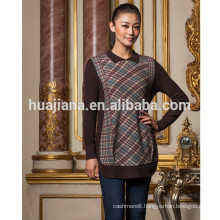 fashion printing pattern women's cashmere long sweater