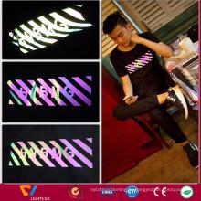 filme refletor de transferência de arco-íris para roupas e sapatos