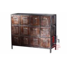 Armoires à outils industrielles en métal antique à tiroirs multiples