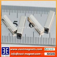Small chute shape Neodymium Magnet for Mobile Phone/cusntom V shape ndfeb magnet for