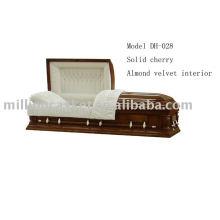 Cherry veneer casket