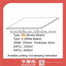 PVC 250mm * Panneau mural et de plafond de 8 mm