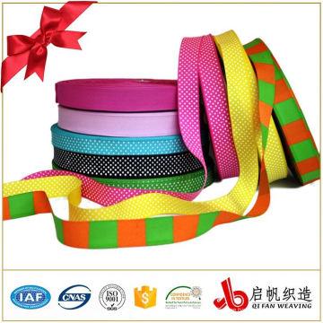 Wholesale double face decorative custom printed polyester satin grosgrain ribbon tape