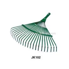 Steel garden tool rake
