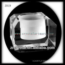 Suporte de vela de cristal popular Z019