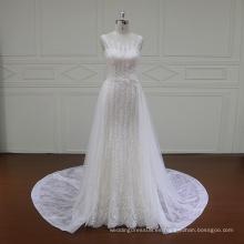 French lace una línea de vestidos de novia con espalda baja