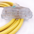 NEMA5-15P SJTW Triple Outlet outdoor extension cords