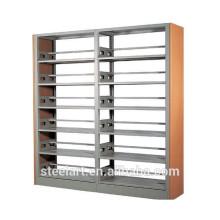 double side library metal iron bookshelf