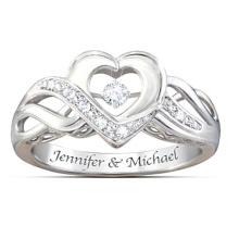 Heiße Verkäufe 925 Sterlingsilber-Tanzen-Diamant-Ring-Schmucksachen
