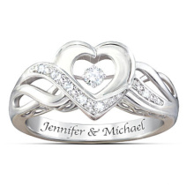 Hot Sales 925 Sterling Silver Dancing Diamond Ring Jewelry