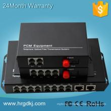 Usine Prix 1310 / 1550nm externe fxo fxs 16 canal convertisseur optique pcm multiplexeur téléphone à fiber convertisseur