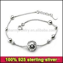 CYL001 ¡Envío libre! Joyería de plata coreana Venta al por mayor, pulseras de la plata esterlina genuinas genuinas del acoplamiento 100% 925 de la cadena del acoplamiento para las mujeres