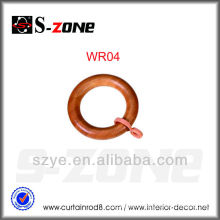 WR01 Nice 28mm wooden curtain ring for drapery decoration