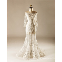 Sehen Sie durch Rock-volle Hülsen-Meerjungfrau-Hochzeits-Kleid