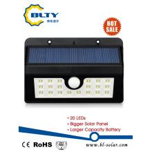 Luz de pared de energía solar con LED