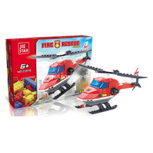 Firefighters Series Designer Firefighter Helicopter Rescue Block Toys