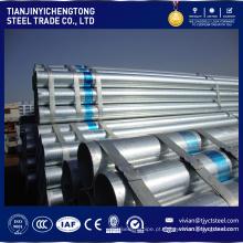 preço de venda quente sch 60 galvanizado GI lista de tubos de aço em baixo preço